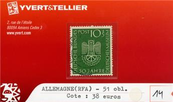 ALLEMAGNE FEDERALE - n°51 obl.