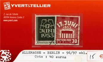 ALLEMAGNE BERLIN - n°96/97 obl.