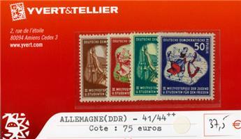 ALLEMAGNE ORIENTALE - n°41/44**