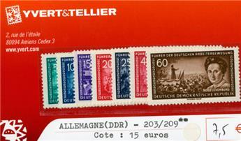 ALLEMAGNE ORIENTALE - n°203/209**