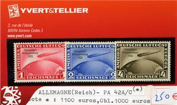 ALLEMAGNE IIIe REICH - PA n°42A/42C(*)