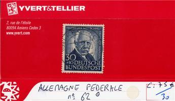 ALLEMAGNE FEDERALE - n°62 obl.