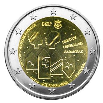 2 EURO COMMEMORATIVE 2017 : PORTUGAL (150 ans sécurité publique)