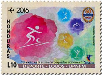 n° 1434/1439 - Timbre HONDURAS Poste aérienne