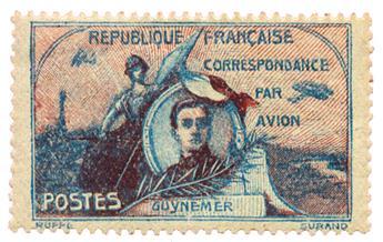 Etiquette PA n°1** - Timbre FRANCE Poste Aérienne