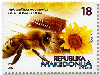 n° 762/763 - Timbre MACEDOINE Poste
