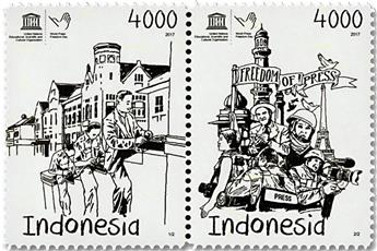 n° 2815/2816 - Timbre INDONESIE Poste