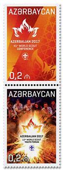n° 975/976 - Timbre AZERBAIDJAN Poste