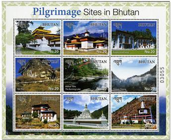 n° 2188/2196 - Timbre BHOUTAN Poste