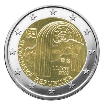 2 EURO COMMEMORATIVE 2018 : SLOVAQUIE (25 ans République Slovaque)