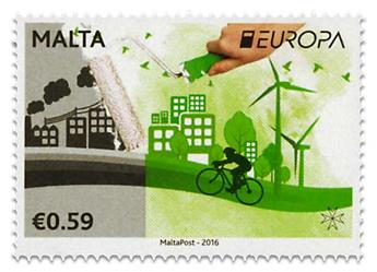 n° 1843/1844 - Timbre MALTE Poste (EUROPA )