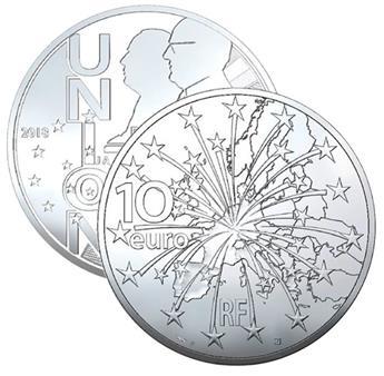 BE : 10 EUROS ARGENT - TRAITE DE MAASTRICHT