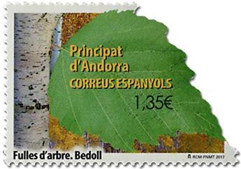 n° 444 - Timbre ANDORRE ESPAGNOL Poste