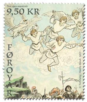 n° 896/897 - Timbre ILE FEROE Poste