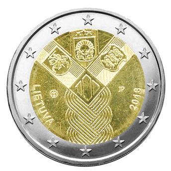 2 EURO COMMEMORATIVE 2018 : LITUANIE (100 ANS DES ETATS BALTES)