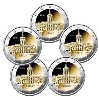 2 EURO COMMEMORATIVE 2018 : ALLEMAGNE (BERLIN) (5 pièces)