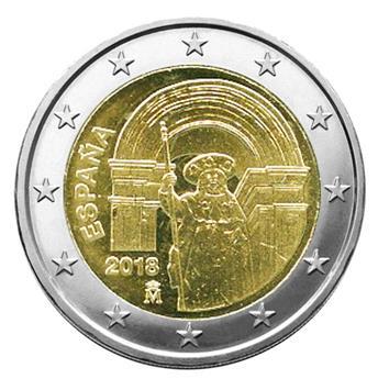 2 EURO COMMEMORATIVE 2018 : ESPAGNE (Saint Jacques de Compostelle)