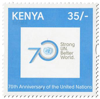 n° 1017 - Timbre KENYA Poste