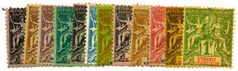 n°1/13(*) (sauf n°10) - Timbre SAINTE MARIE DE MADAGASCAR Poste