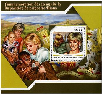 n° 1178 - Timbre CENTRAFRICAINE Blocs et feuillets