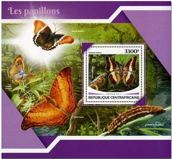 n° 1183 - Timbre CENTRAFRICAINE Blocs et feuillets