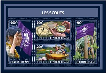 n° 5177/5180 - Timbre CENTRAFRICAINE Poste