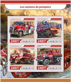 n° 1464/1467 - Timbre DJIBOUTI Poste