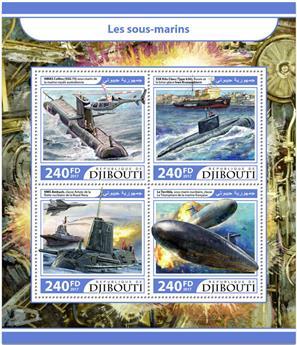 n° 1484/1487 - Timbre DJIBOUTI Poste