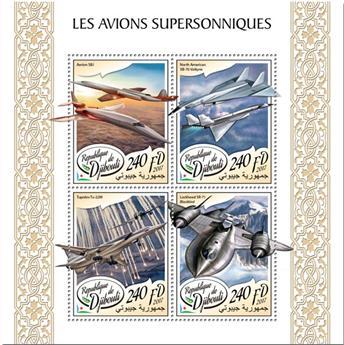 n° 1644/1647 - Timbre DJIBOUTI Poste