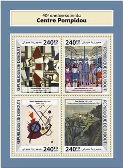 n° 1724/1727 - Timbre DJIBOUTI Poste