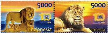n° 2852/2853 - Timbre INDONÉSIE Poste