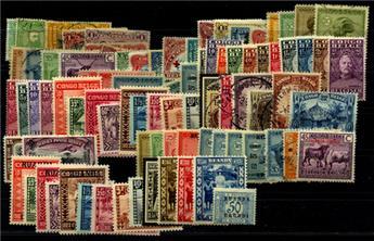 CONGO BELGE-RUANDA URUNDI : Petite collection */obl.