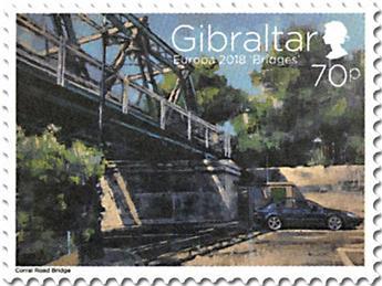 n° 1838/1839 et 1840/1841 - Timbre GIBRALTAR Poste