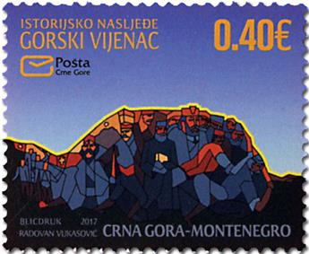 n° 410/411 - Timbre MONTENEGRO Poste