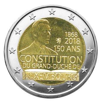 2 EURO COMMEMORATIVE 2018 : LUXEMBOURG (150ème anniversaire de la Constitution Luxembourgeoise)