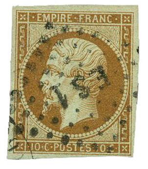 n°13B obl. TB - Timbre FRANCE Poste