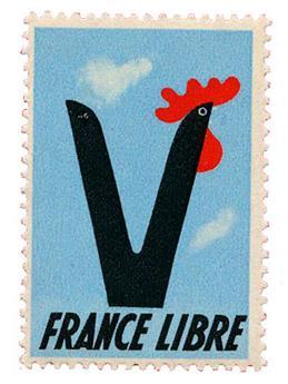 """France : Vignette """"France Libre"""" neuf**"""