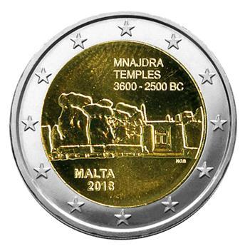 2 EURO COMMEMORATIVE 2018 : MALTE (Temples de Manjdra)