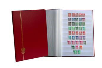 PERFECTA : Classeur fixe pour timbres (Grand modèle-Pages Blanches-48p. Bleu)