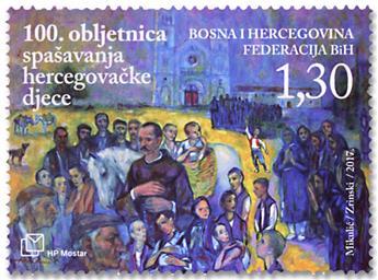 n° 423 - Timbre HERCEG-BOSNA Poste