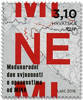 n° 1211 - Timbre CROATIE Poste