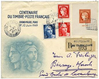 n°830, 832, 833 et 841 obl. - Timbre FRANCE Poste