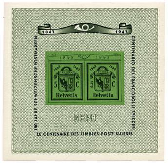 n°10* - Timbre SUISSE Blocs Et Feuillets