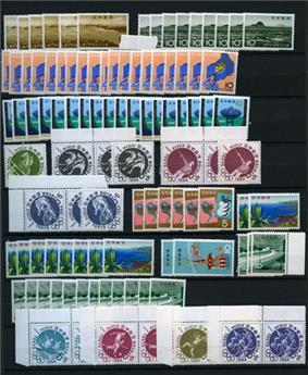 JAPON : Lot de timbres par multiples neuf** entre 1947 et 1972