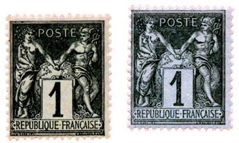 n°83** + n°83b* - Timbre FRANCE Poste