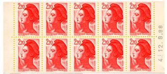 n°2427-C2** - Timbre FRANCE Carnets
