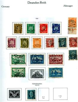 ALLEMAGNE REICH : Petite collection obl. 1872/1932