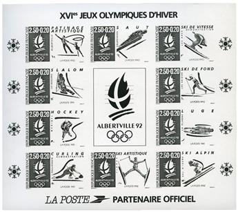 n° 14b - Timbre France Bloc et feuilet