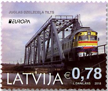 n° 1013/1014 - Timbre LETTONIE Poste (EUROPA)