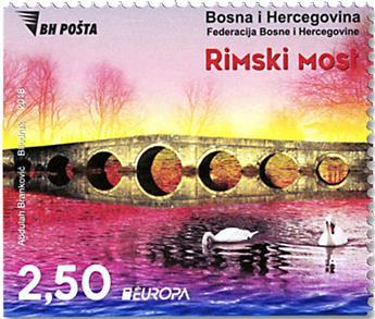 n° 788a/787a - Timbre BOSNIE-HERZEGOVINE Poste
